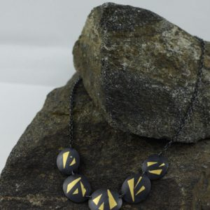 Black and Gold Keum Boo Series Necklace