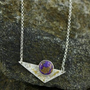 Purple Mohave Turquoise and Sterling Silver Necklace